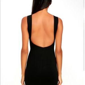 Lulu's Dresses - Lulus like a lady black backless midi dress